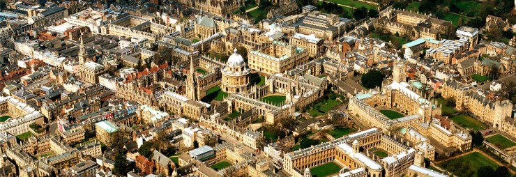 Aerial View of Oxford University, best university cities of 2018