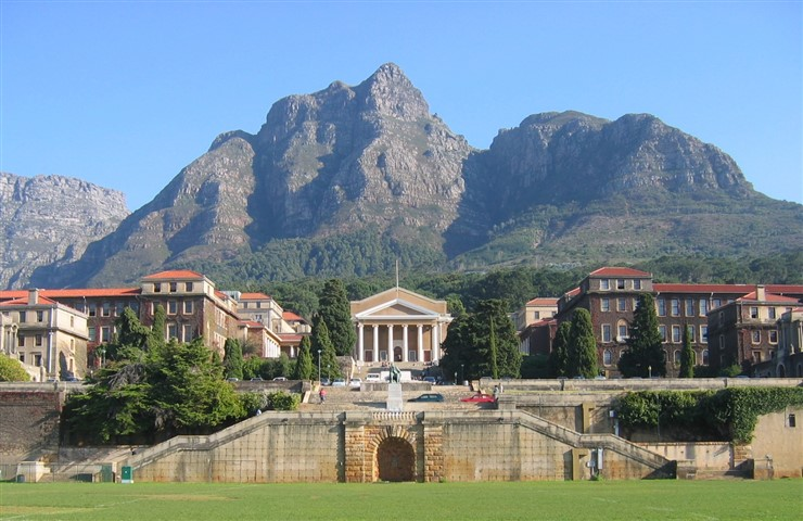 Upper Campus landscape view, University of Cape Town, South Africa. Photographer Adrian Frith
