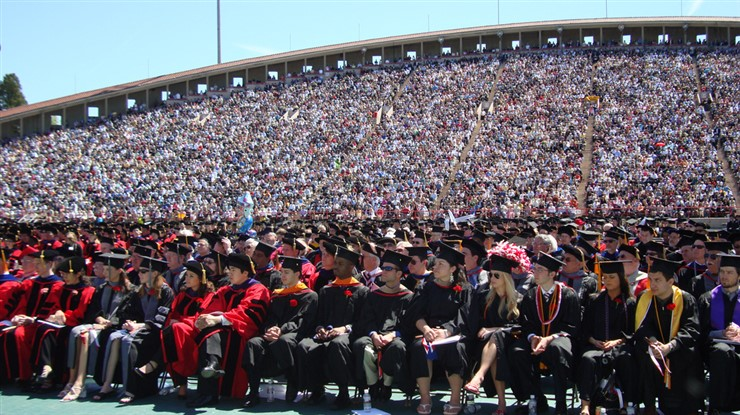 Cornell's 2008 commencement ceremony at Schoellkopf Field.