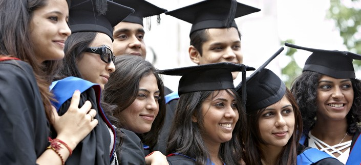 Indian students in Cardiff University, study abroad