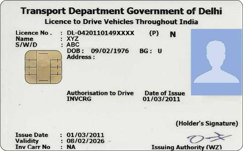 Delhi driving license